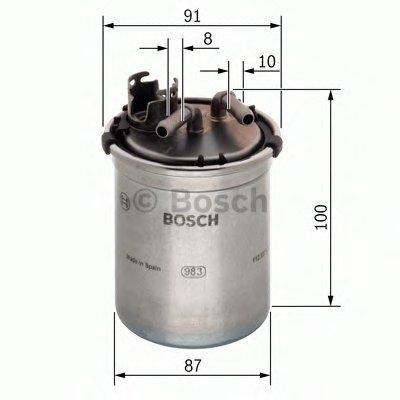 F026402056 BOSCH Топливный фильтр