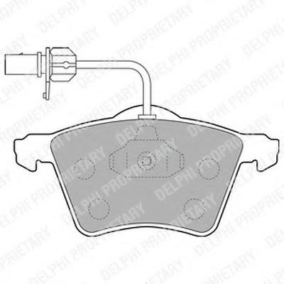 Колодки Передние DELPHI LP1529 для авто VW с доставкой