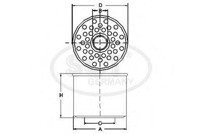 ST701 SCT GERMANY Топливный фильтр