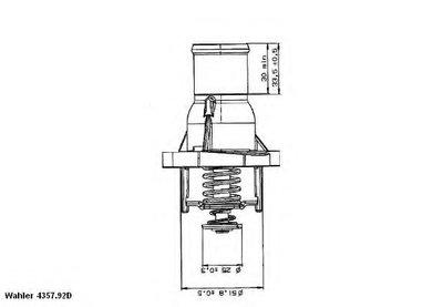 435792D WAHLER Термостат, охлаждающая жидкость