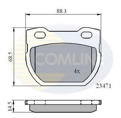Комплект тормозных колодок, дисковый тормоз Comline COMLINE купить