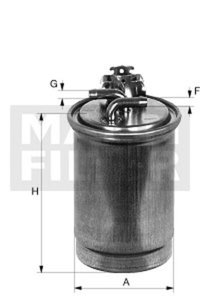WK7002 MANN-FILTER Топливный фильтр