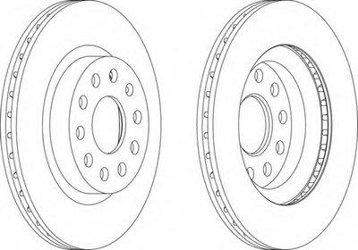 DDF1223 FERODO Тормозной диск