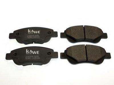Комплект тормозных колодок, дисковый тормоз KAWE купить