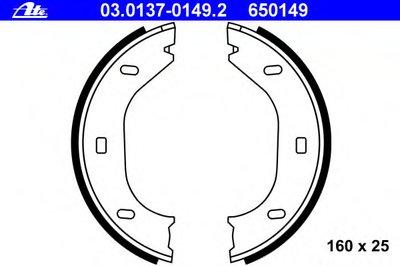 Комплект тормозных колодок, стояночная тормозная система ATE купить