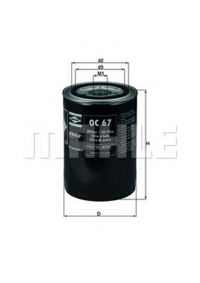 OC67 KNECHT Масляный фильтр; Гидрофильтр, автоматическая коробка передач