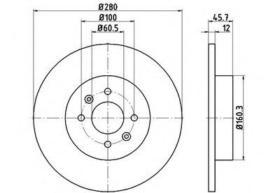 92181203 TEXTAR Тормозной диск