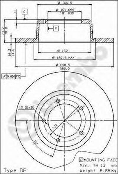 Тормозной диск COATED DISC LINE BREMBO купить