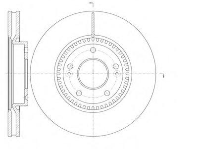 Диск тормозной HYUNDAI ix35 (LM) (04/10-) передн. (пр-во REMSA)