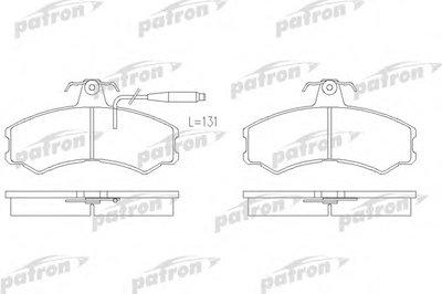 Комплект тормозных колодок, дисковый тормоз PATRON купить