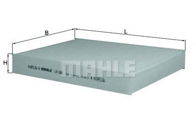 Фильтр салона RENAULT SCENIC III 09-, TRAFIC III 14- (пр-во KNECHT-MAHLE)