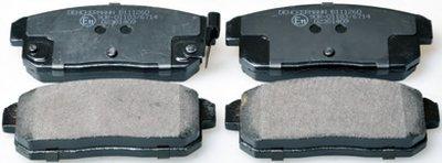 B111260 DENCKERMANN Колодки тормозные дисковые задние