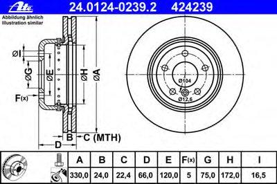 Гальмівний диск двосекційний