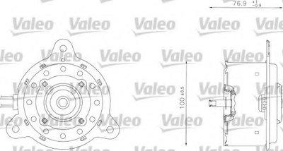 Электродвигатель, вентилятор радиатора VALEO купить