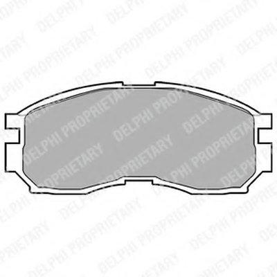 Фотография Комплект тормозных колодок, дисковый тормоз DELPHI LP803-2