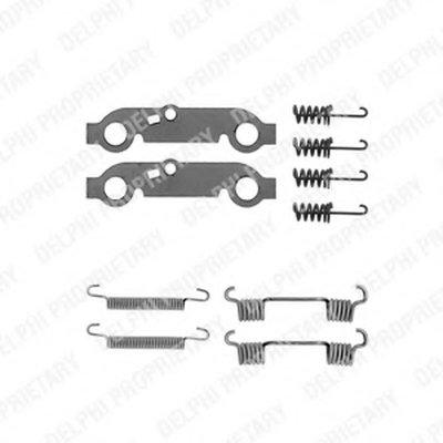 Комплект Монтажный Тормозных Колодок DELPHI LY1013 для авто MERCEDES-BENZ с доставкой