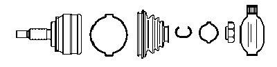 134761 FARCOM Шарнирный комплект, приводной вал