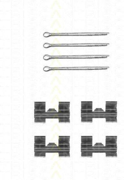 Комплектующие, колодки дискового тормоза TRISCAN купить