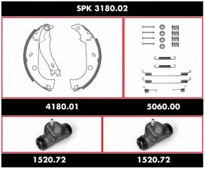 Комплект тормозов, барабанный тормозной механизм Super Precision Kit REMSA купить