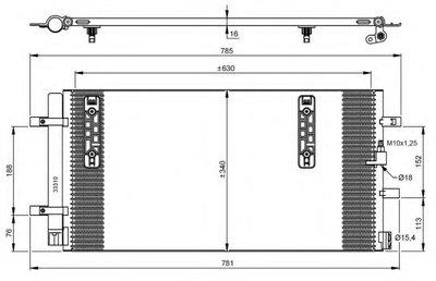 Конденсатор, кондиционер NRF 35916 для авто AUDI с доставкой