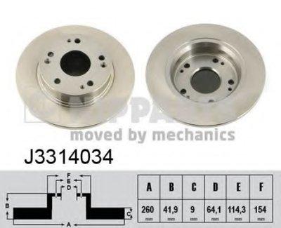 Диск Тормозной NIPPARTS J3314034 для авто HONDA с доставкой