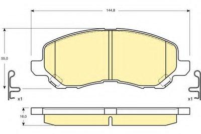 6132879 GIRLING Комплект тормозных колодок, дисковый тормоз