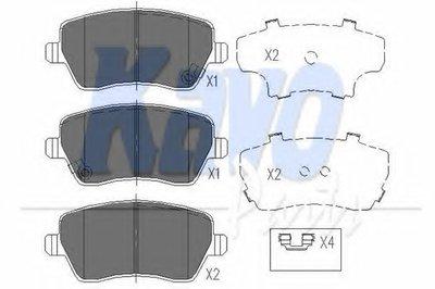 Тормозные колодки дисковые передние