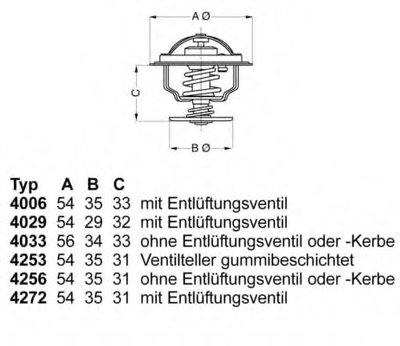 425387D WAHLER Термостат, охлаждающая жидкость