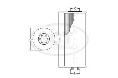 SH446P SCT GERMANY Масляный фильтр