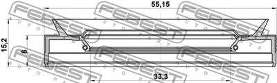 Сальник гумометалевий FEBEST 95PEY35550815C-1