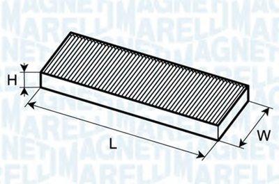 Фильтр, воздух во внутренном пространстве MAGNETI MARELLI купить