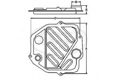 SG1056 SCT GERMANY Комплект гидрофильтров, автоматическая коробка передач