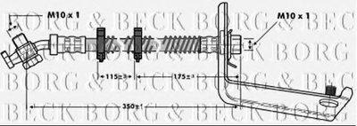 Тормозной шланг BORG & BECK купить