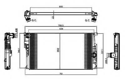 Радиатор, охлаждение двигателя NRF купить