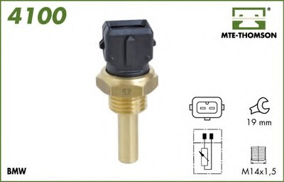 Датчик, температура охлаждающей жидкости; Датчик, температура охлаждающей жидкости; Датчик, температура охлаждающей жидкости MTE-THOMSON купить