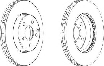 Тормозной диск FERODO DDF1252C для авто CITROËN, MERCEDES-BENZ с доставкой