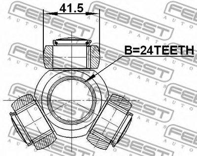 Трипоид 24X415 FEBEST 2116TC718TDCI для авто AUDI, BMW, MITSUBISHI, NISSAN, TOYOTA с доставкой-1