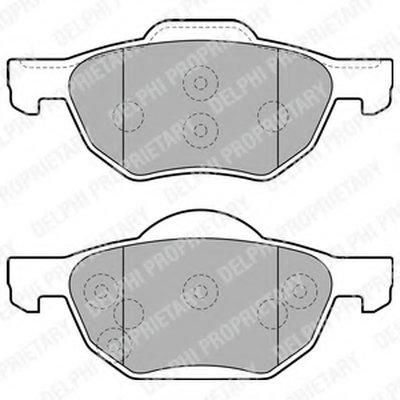 Тормозные колодки DELPHI LP1862 для авто HONDA с доставкой