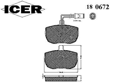 Комплект тормозных колодок, дисковый тормоз ICER купить