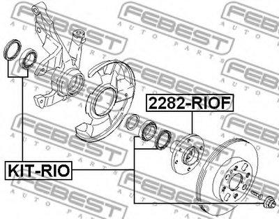 Ступица Передняя FEBEST 2282RIOF для авто KIA с доставкой-1