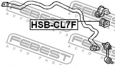 Втулка стабилизатора перед. подвески HONDA ACCORD CL 02-08 (D26.5) FEBEST HSBCL7F-1