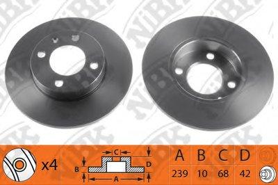 Автозапчасть/Диск тормозной nibk rn1299 NIBK RN1299 для авто  с доставкой