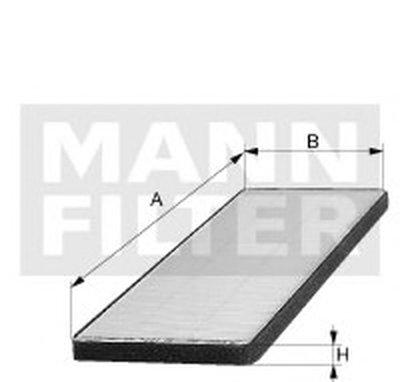 FP1828 MANN-FILTER Фильтр, воздух во внутренном пространстве