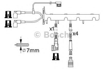 Комплект проводов зажигания BOSCH купить