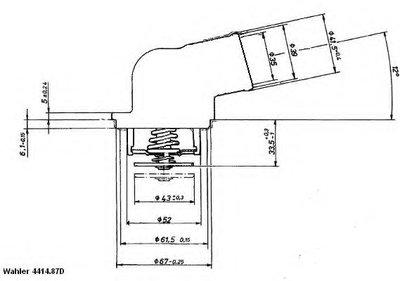 441487D WAHLER Термостат, охлаждающая жидкость