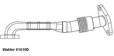 61010D WAHLER Трубка, клапан возврата ОГ