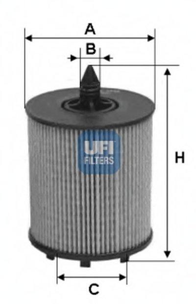 2502400 UFI Масляный фильтр