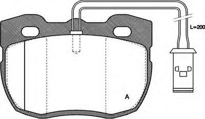 Комплект тормозных колодок, дисковый тормоз ADVANCE OPEN PARTS купить