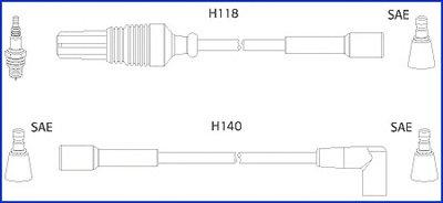 Комплект проводов зажигания Hueco HITACHI купить