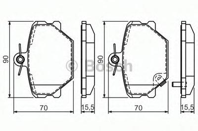 Гальмівні колодки дискові CITROEN Xantia 2.0i,2.1i/Smart 0.6,0.7,0.8/Roadster 0.7/Fortwo 1.0 -07